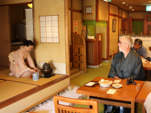 Tea ceremony demonstration with seasonal confectionary